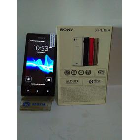 Telefono Celular Sony Xperia J Liberado Negro En Caja
