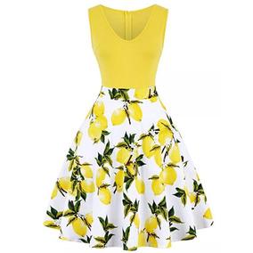 Vestido Amarillo Juvenil Fresco Temporada