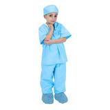 Niño Azul Jr. Doctor Traje Peelings Con Tapa - Niño
