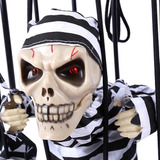 Esqueleto Prision Halloween Decoracion A Pilas Fiestaclub