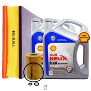 Kit 2 Filtros Vw Amarok + Aceite Shell Hx8 5w40 8 Lt 10/18
