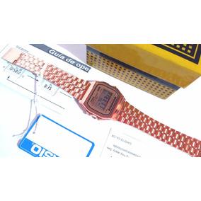 Reloj Casio Rosa A159w Cobre Rose Gold Caja Nuevos Retro Oro
