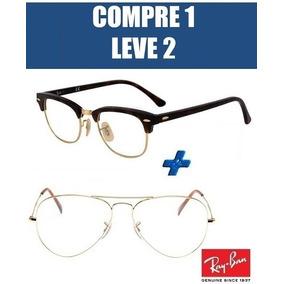 Armacao Rayban Clubmaster 51 Armacoes - Óculos no Mercado Livre Brasil c5042a98e9