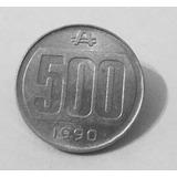 Moneda Argentina 500 Australes 1990 Escudo Colección!