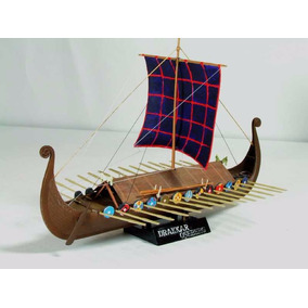 Miniatura Maqueta Para Armar Barco Vikingos, Drakkar, Ragnar