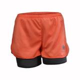 Short Deportivo 2 En 1 Souldier Color Melon Con Lycra Gris
