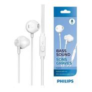 Auricular Philips Taue101 Blanco Microfono Original Earbud