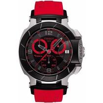 Relógio Masculino Vermelho T-race Moto Gp Preto