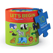 Puzzle 10 Rompecabezas Animales Selva Leon 2 Piezas C. Creek