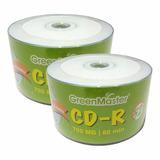 100 Cd Imprimibles Green Master 700 Mb 52x 80 Min