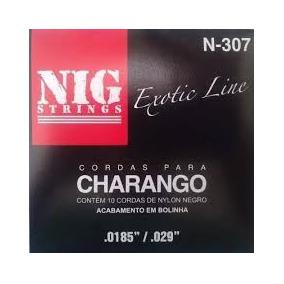Cordas Nig Para Charango Boliviano Nylon Preto - N307