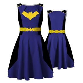 Vestido Batgirl Batman Fantasia Halloween Cosplay Heróis