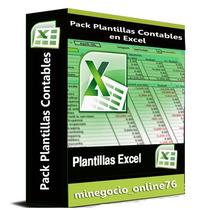 Pack Plantillas Contabilidad Excel+sistema Contable+bonos