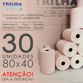 Caixa De Bobina Térmica 80x40, Salmão, Impressora Bematech