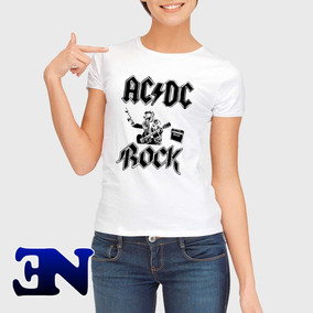Camiseta Acdc Angus Young Rock Tnt Camisa Baby Look