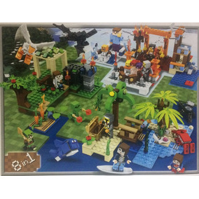 Kit Minecraft Myworld 8 Caixas = 705 Peças Frete Grátis