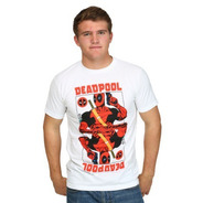 Polera Deadpool Carta, Marvel, Talla M