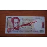 Billete De 1000bs De Agosto 1998 Especimen
