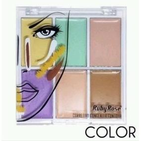 Paleta Corretivo Contorno 6 Cores Ruby Rose Maquiagens