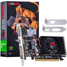 Placa De Vídeo Pcyes Geforce 210 1gb Ddr3 Hdmi Dvi 64 Bits