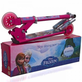 Patinete Infantil Frozen 3 Rodas - Pronta Entrega