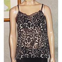 Musculosa De Gasa Animal Print Bretel Fino Espalda Muy Sexy