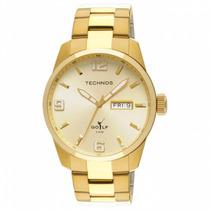 Relógio Technos Masculino Golf Dourado 2305af/4x
