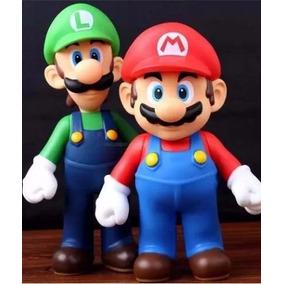 Super Mario E Luigi 2 Bonecos Action Figure Nintendo Barato
