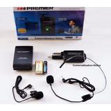 Micrófono Inalambrico Premier Mic-5364 De Diadema Y Solapa
