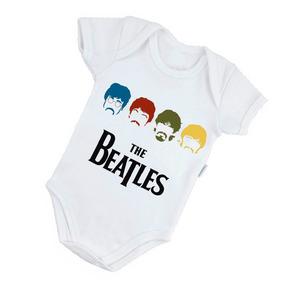 Body Bebê Poliéster The Beatles Bori Roupinha Rock B067brp
