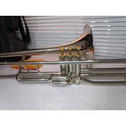 Trombone De Pisto Sib Niquelado F670 Weril Completo