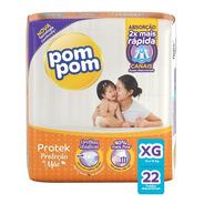 Fralda Pom Pom Protek Proteção De Mãe Jumbo Xg 22 Unidades