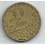 Moeda Brasil 2 Cruzeiros Ano 1945 Bronze-alumínio 25mm S/ S