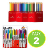 Pack Marcador Sharpie 05612 + 60 Lapices Colores / Fernapet