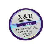 Gel Uv Xd Unhas Acrigel Gel Porcelana Clear Pink Nude X&d.