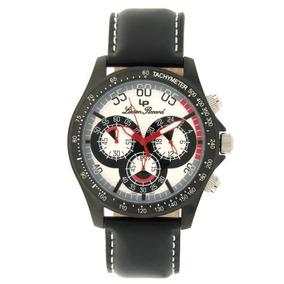 Lucien Piccard Hombre Sl Negro Ion-plateado Reloj Cronógra