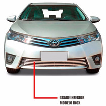Sobregrade Corolla 2015 A 2016 Aco Inox Flat 1 Pc