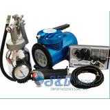 Kit Mini Compresor Aerografo Con Accesorios, 1/4hp 50psi