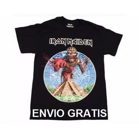 Playera Oficial Iron Maiden Tour 2016 Mexico Monterrey Eddie