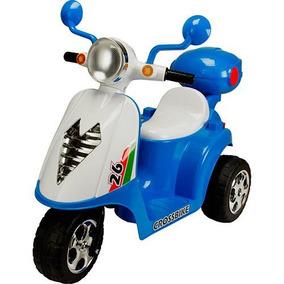 Moto Scooter Infantil Elétrico Azul 6 Volts