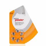 60 Pilhas Baterias A13 Pr48 Aparelho Auditivo Extra Power
