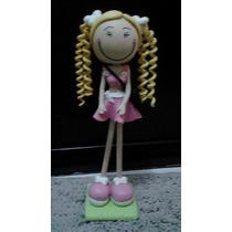Boneca Magrela Em Biscuit 25 Cm