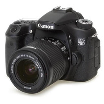 Câmera Digital Fotografica Canon Dslr Eos 70d (w) Lcd 3.0 2