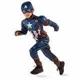 Marvel Capitan America Disfraz Disney Store Talla 7/8