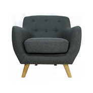 Sillon Krogh 1 Cuerpo Living Tela Diseño Moderno Escandinavo