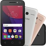 Smartphone Alcatel Pixi4 Metallic Dual Chip Preto Com Capas