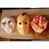 Kit 3 Mascara Terror Susto Jason Jogos Mortais Chucky