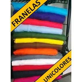 Franelas Negras Y Unicolor 100%algodon Para Estampar