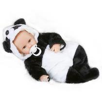 Bebê Panda De Vinil 42cm Tipo Baby Reborn # Dia Das Crianças