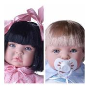2 Bebê Reborn Gêmeos Casal - Meu Xodo